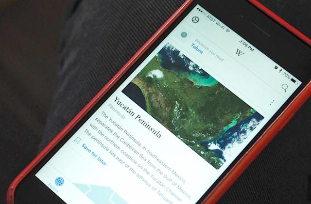 Wikipedia brings personalized reading options to its iOS app