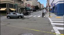 Man killed, wife injured after Tesla runs red light near San Francisco's Union Square