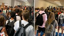 'This is not ok': US schools crowded on first day back amid coronavirus crisis