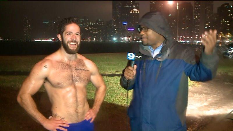 shirtless jogger goes viral after tv interview video