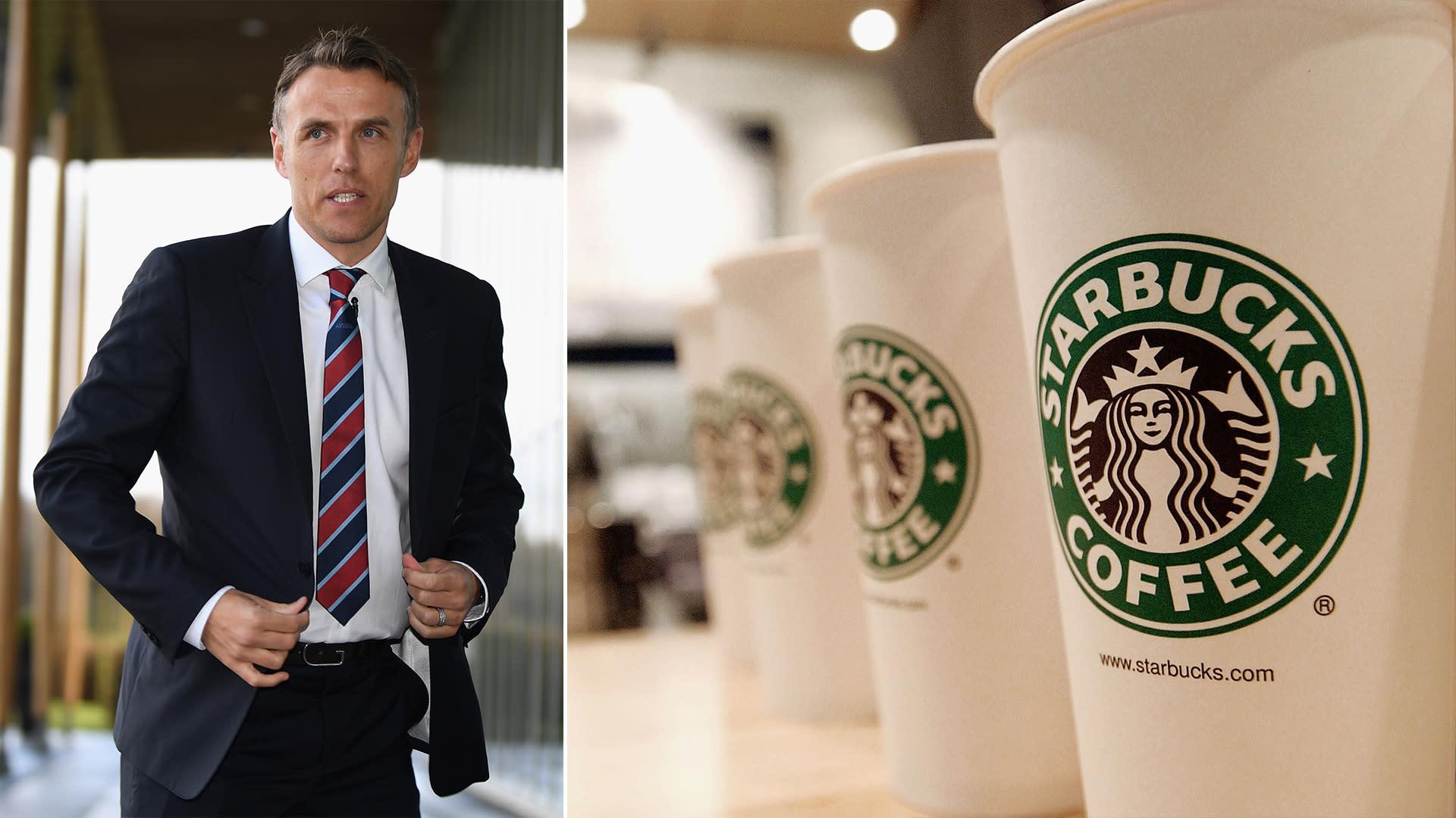 The cheeky message a Starbucks barista sent Phil Neville