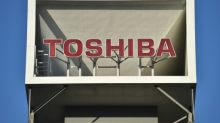 Toshiba shares drop as battle over $18bn chip unit sale looms