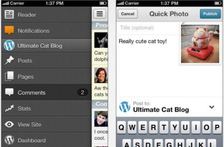 Wordpress for iOS gets a new user interface