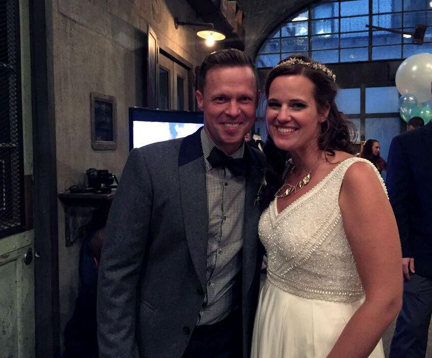 <p>Guests attended the fake wedding of a very real couple named David and Meg, who have been married for 14 years. </p>