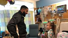 Drake visits patient, 11, who invited him to her birthday