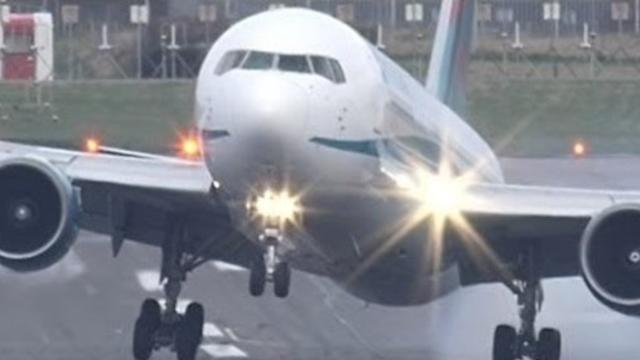 Strong Crosswinds Cause Bumpy Landing