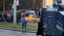 Biélorussie: des milliers de manifestants dispersés brutalement àMinsk