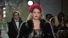 La nièce de la princesse Diana a foulé le podium de Dolce & Gabbana lors d'un défilé à Harrods
