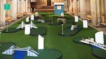 Mini-golf course opens in Kent cathedral