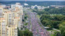 Mehr als 100.000 Oppositionsanhänger demonstrieren in Belarus