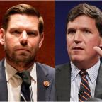 Rep Eric Swalwell shares apparent text messages with Tucker Carlson calling him a 'coward'
