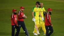 Australia survive late scare to clinch consolation victory over England that keeps them top of T20 rankings