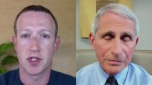 Zuckerberg says Fauci is being 'quite generous' in his description of the Trump administration's COVID-19 response