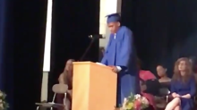 A high school student came out in his valedictorian speech to wild applause