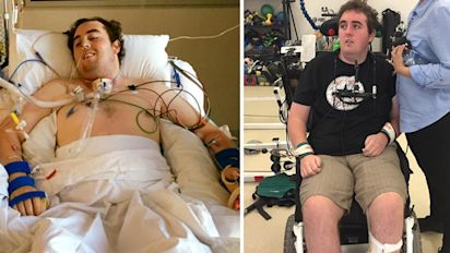Friends rally around man after harrowing accident