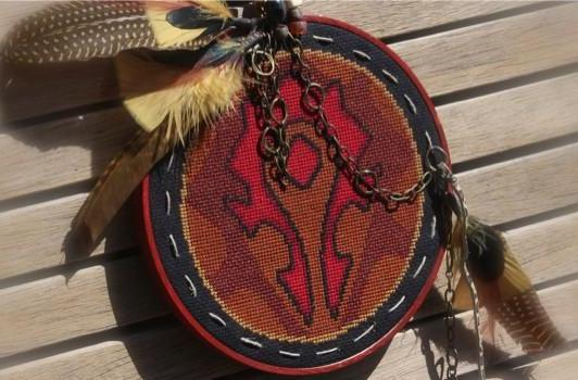 Get crafty with these faction crest cross-stitch patterns