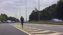E-scooter rider tries to join motorway with 70mph traffic