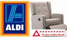 Urgent recall of Aldi Special Buy chair: 'Risk of serious injury'