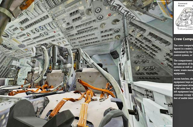 Explore a 3D scan of the Apollo 11 capsule