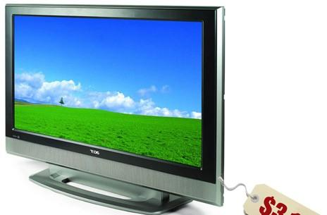 Man attempts LCD TV theft using water bottle UPC, fails