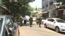 Coronavirus: Myanmar military helps disinfect Yangon's streets