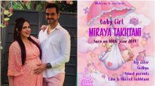 It's a girl : Esha Deol and Bharat Takhtani welcomes baby girl Miraya