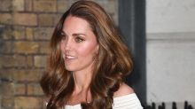 Kate Middleton Turns Heads in Shoulder-Baring White Dress and Sparkly Two-Toned Glitter Heels