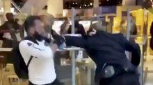 Security guard and shopper in Selfridges brawl