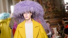 Pierpaolo Piccioli Plays With Proportion, Color and Jellyfish Hats for Valentino Couture