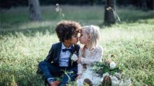 Moms hold special mini-wedding photo shoot with their kids