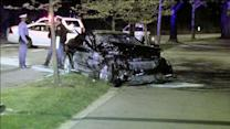 Trapped driver rescued in Kelly Drive crash