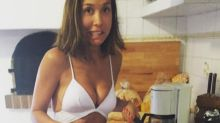 Myleene Klass Risks Injury As She Makes French Toast In Teeny Bikini