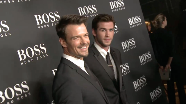 Josh Duhamel, Liam Hemsworth, Woody Allen and Mark Sanchez Celebrate the Opening of the Hugo Boss NYC Flagship Store