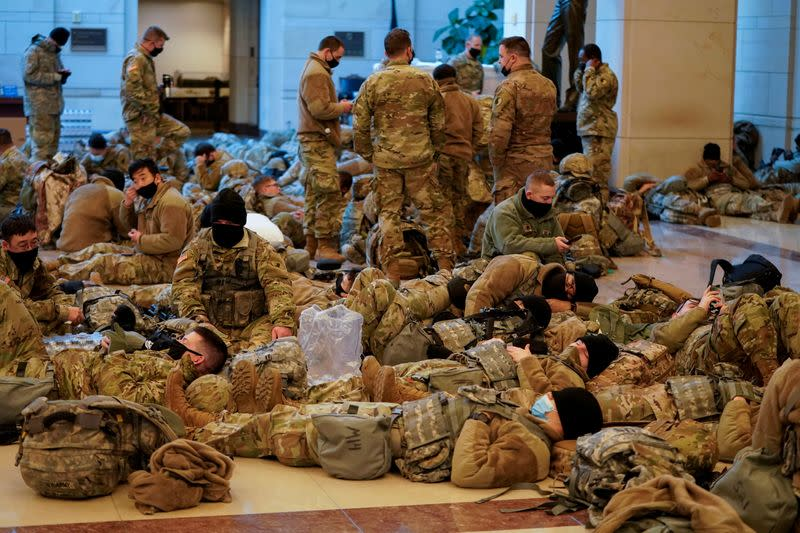 National Guard on 24-hour watch in U.S. Capitol after Trump supporters' siege
