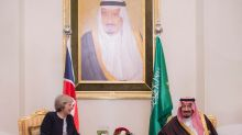 Britain's May says to help Gulf leaders 'push back' Iran