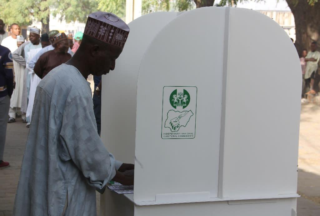 Voting went ahead at Maiduguri despite the Boko Haram attack (AFP Photo/AUDU ALI MARTE)