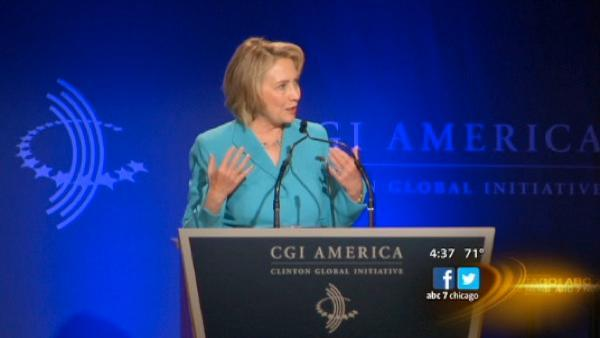 Bill, Hillary, Chelsea Clinton in Chicago for Clinton Global Initiative Conference