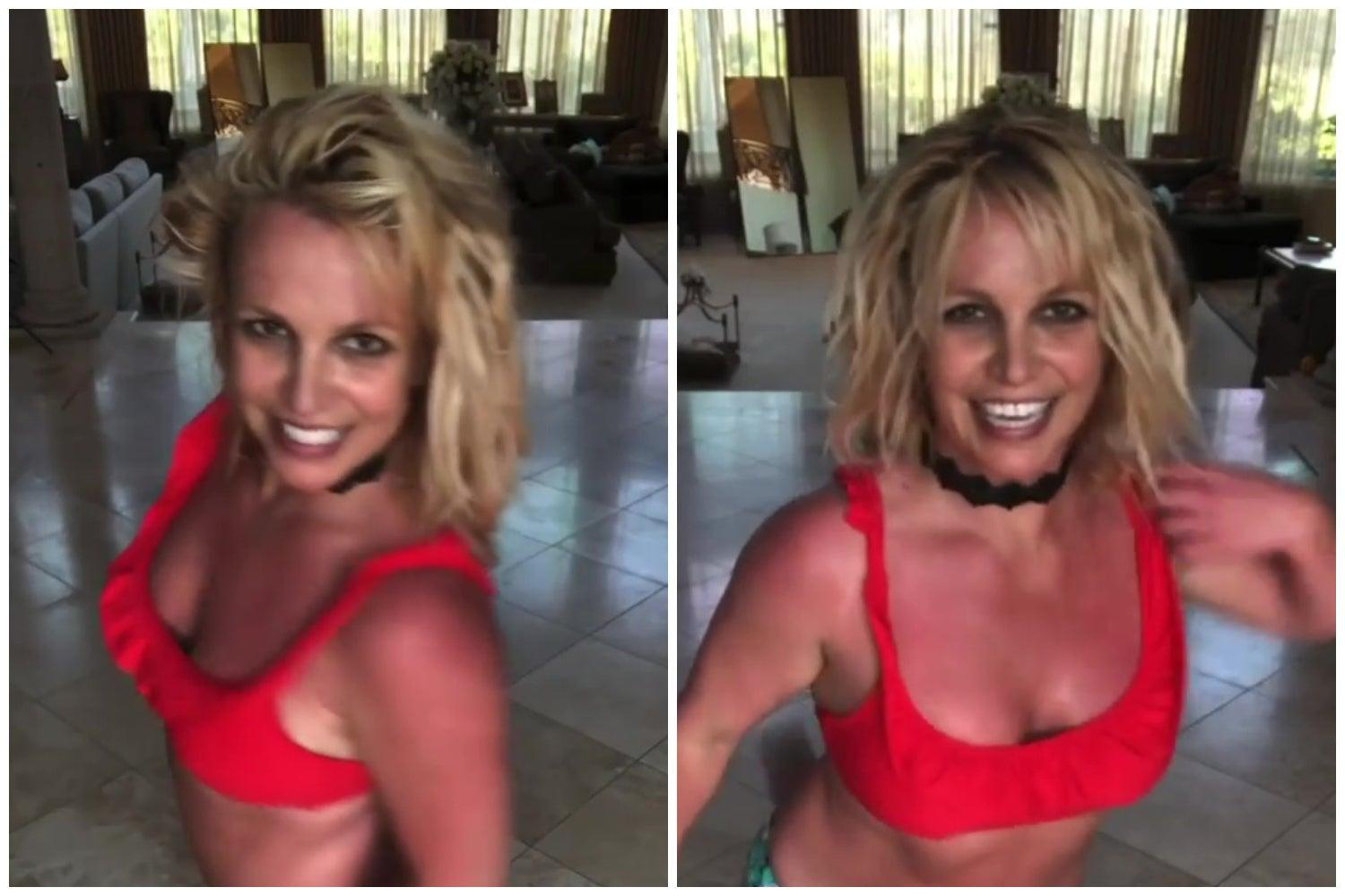Britney Spears shares new dance video after saying she will not perform under father's control