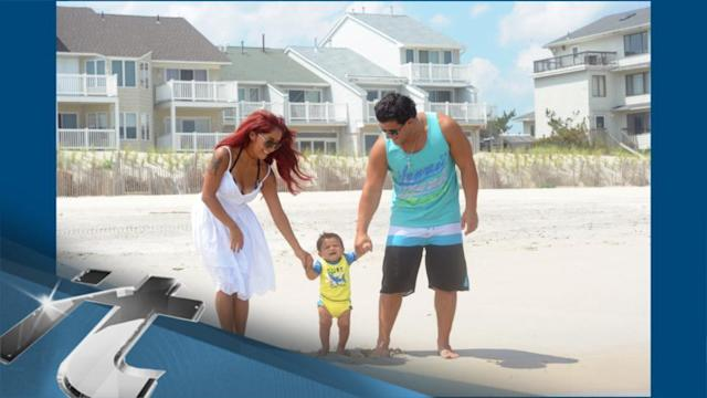 Family News Pop: Snooki Brings Bikini Body, Jionni and Little Lorenzo to the Jersey Shore
