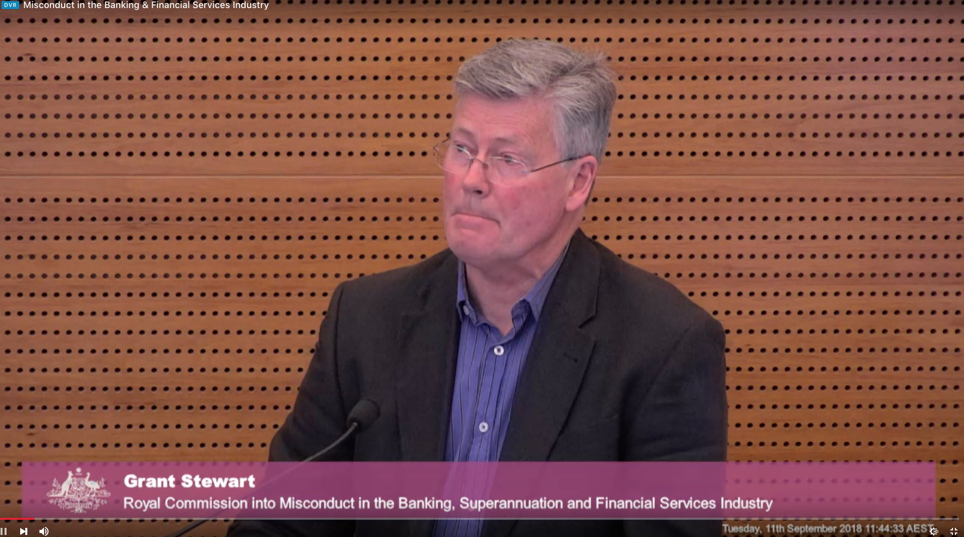 Father of 26-year-old man with Down Syndrome, Grant Stewart, gives evidence at the royal commission.