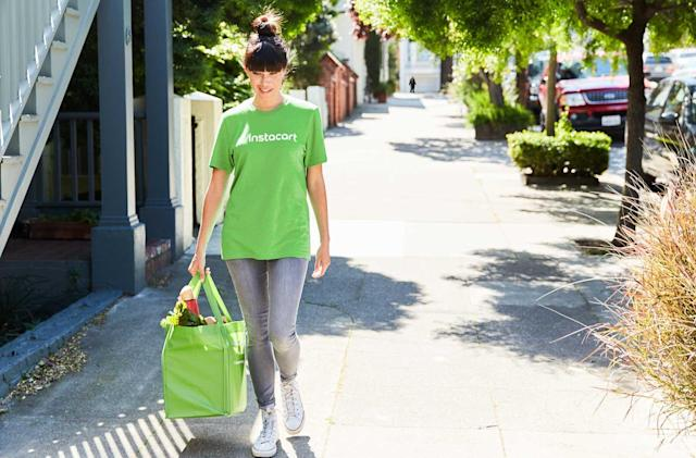 Instacart gets grocery delivery help from Postmates at busy times