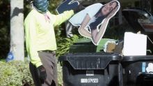 Ana de Armas cardboard cutout seen in Ben Affleck's trash after breakup