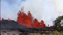 Fountain of Lava Spews at Fissure 20 Near Hawaii's Kilauea Volcano