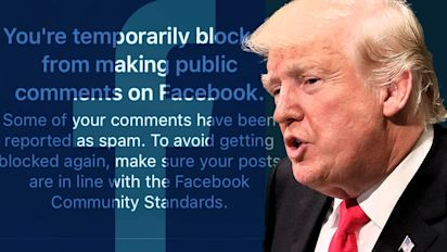 Trump says he's 'looking into' Facebook 'bias'