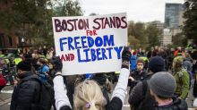 Alt-right free speech event in Boston met with counterprotest