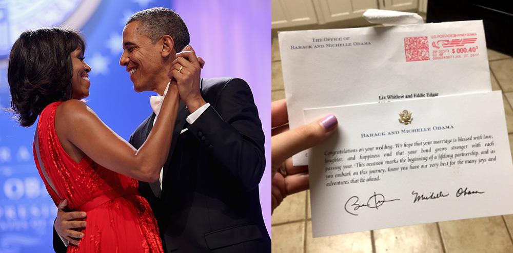 A couple invited former President Obama and former first lady Michelle Obama to their wedding and received a lovely response.