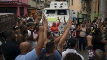 Brazil favela residents protest after 8-year-old shot