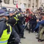 Anti-Lockdown Protesters Clash with Police in Trafalgar Square