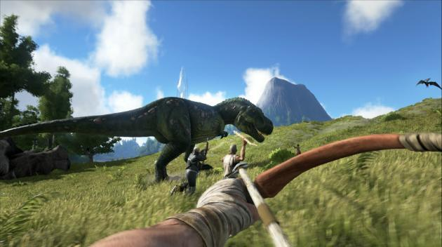 Hunt dinosaurs and craft tools while stranded naked on 'ARK' island