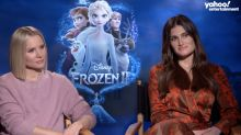 'Frozen' stars Idina Menzel and Kristen Bell say their kids don't like them singing: 'They're just over us'